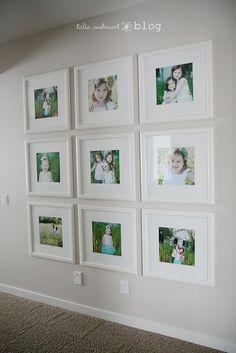 family photo wall. (kitchen)