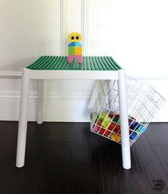 Create a #DIY Lego activity table with bonus storage space. This a great project that will keep your kids occupied and engaged. #Legos #kidsproject