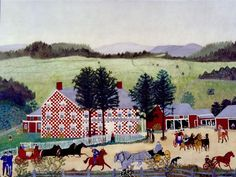 The Old Checkered House by Grandma Moses (1949)
