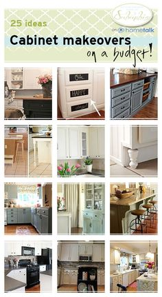 25 Ways To Makeover Your Kitchen Cabinet On A Budget!