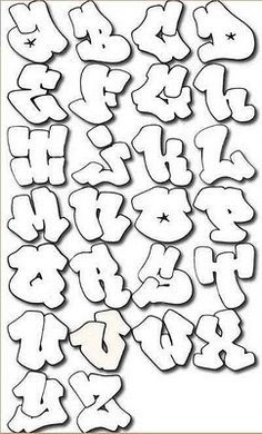 "The best Mural Graffiti Art: Sketch Graffiti Alphabet ""Harfleri"" on Bubble Letters A - Z"
