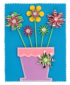 Nicole™ Crafts Foam Flower Picture #kids #crafts