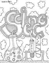 school subject coloring pages - great for journal covers! - maybe for the first page of each section of their binder to make organizing it fun