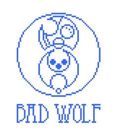 "cross stitch pattern: ""Bad Wolf"" [Doctor Who]"