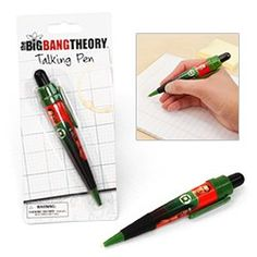 The Big Bang Theory & Ted Talking Pens Now Sold in Novelty Retail Stores!