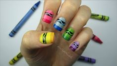 Crayon Nail Art! Perfect for Back to School :)