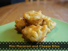 {Freezer to Lunchbox Series} Mini Macaroni and Cheese Bites