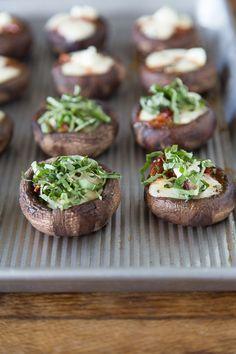 Pizza Stuffed Mushrooms {Via @Gaby Dalkin}