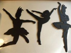Ballet Dancers Set of 3 Metal Wall Art by jnjmetalworks on Etsy, for my daughters room