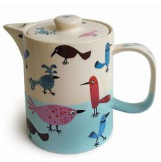 collect teapot, birdi told, birdi teapot, teapots, hannah turner, bird illustr, artist hero, ceramics, turner ceram