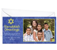 Photo Cards : Sabbath Jewish Holiday Photo Card Template