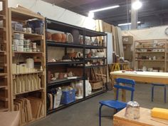 Ben Medansky Ceramics Studio, Los Angeles, CA, 02.13.13. I'd be the happiest of girls!! Would love to have this space