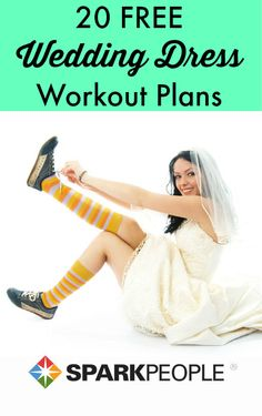 Look and feel your best on the big day with these dress-specific workout plans.  | via @SparkPeople #fitness #exercise #bride #wedding