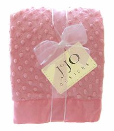 Unique Super Soft Pink Girl Minky Dot and Satin Baby Blankets by JoJo Designs only $26.99