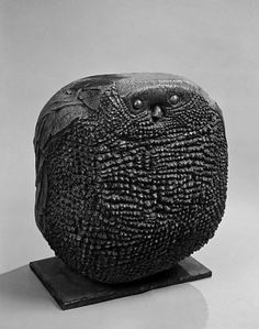 Leonard Baskin (1922-2000).  Owl, 1960, Bronze on iron base, 20 1/2 X 17 7/8 X 18 in.  Hirshhorn Museum and Sculpture Garden, Smithsonian Institution, Washington.