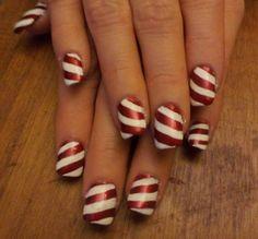 Day 355: Candy Cane Nail Art - nailsmag.com