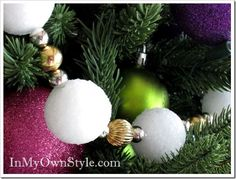 How to Make A Snowball Holiday Garland