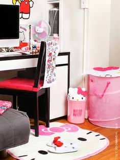 Dress up the home office or dorm room with all things #HelloKitty