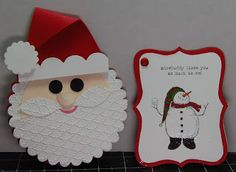 Stampin' Up! Santa Punch Art  by Karel Standish at Stampin' in My 'Jammies
