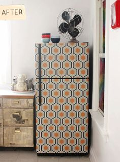 Wallpaper fridge!