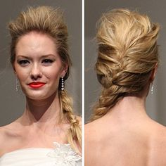 Try a slightly undone braid while adding volume on top