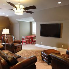 Bonus Room idea. Like the wall color