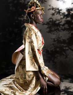 Love the Kimono ... can't say much for the headdress.
