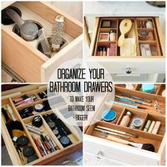 Ideas to organize your bathroom drawers!