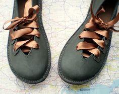 cute handmade leather shoes