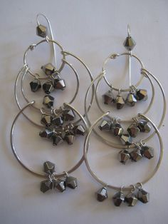 The Silver Sparkler Chandelier Earrings by 3tomatoes on Etsy, $95.00