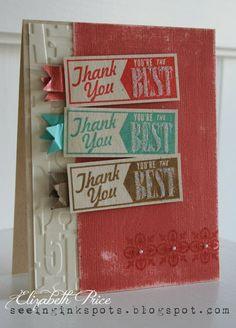 Hello Lovely stamp set, Core'dinations cardstock, alphabet embossing folder,