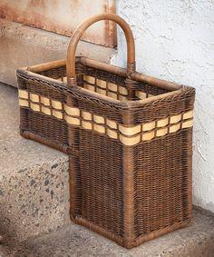 Another great find on #zulily! Antique Walnut Brown Stair Step Basket #zulilyfinds