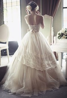 So pretty Wedding Dressses, Dream Dress, Lace Wedding Dresses, Ball Gowns, Dress Wedding, Corset, The Dress, Romantic Weddings, Bride