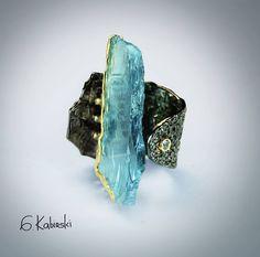 G. Kabirski: aquamarine ring
