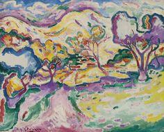 Georges #Braque - Paysage A La Ciotat, 1907, oil on canvas