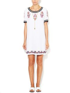 Marco Silk Embroidered Shift Dress from Mobile First Look: Rebecca Minkoff on Gilt