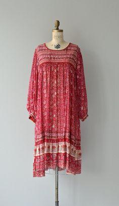 Drishti dress 70s indian cotton dress vintage 70s by DearGolden