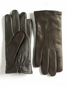 1826 touchscreen leather gloves
