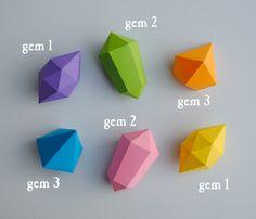 Paper gems tutorial - making geometric tree ornaments!