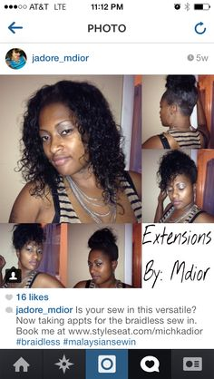 This Superior Matural Curly has lasted Jadore TWO YEARS and multiple installs!! Loving the way she's rockin a versatile sewin with our long lasting #teamwags #indianremy!!