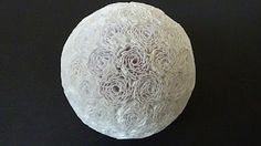 Quilling: tutorial decorative ball made with recycled paper