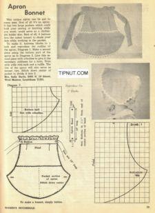 Vintage Apron Bonnet Pattern