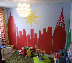 Creative unfinished basement.