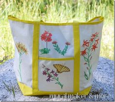 Draw Wildflowers with Fabric Markers - Just Paint It Blog
