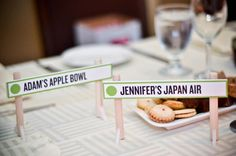 ski resorts, table names, tabl number, weddings, wedding places, card holders, wedding place cards, table numbers, hill sign