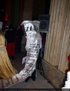 Disfraz de etiqueta de ZARA!!!