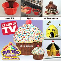 Giant cupcake silicone