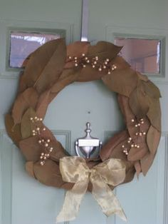 good use for magnolia leaves ...  may have to try this