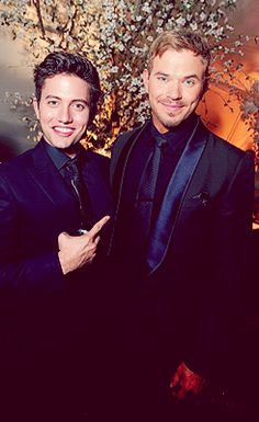 Jackson Rathbone and Emmett Lutz at BD2 after party