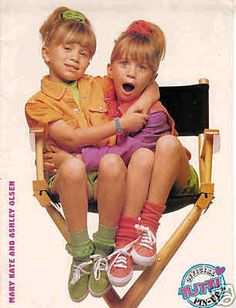 mary kate and ashley olsen when they were much younger.